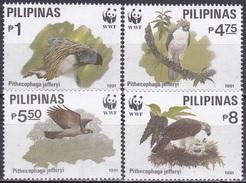 Philippinen Philippines 1991 Tiere Fauna Animals Vögel Birds Raubvögel Affenadler Adler Eagles, Mi. 2038-1 ** - Philippinen