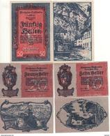 LIECHTENSTEIN  Full Set   10-20-5O Heller    P1-2-3    (ND  1920)    UNC - Liechtenstein