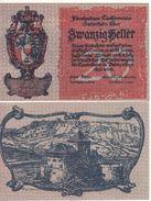 LIECHTENSTEIN  2O Heller    P2    (ND  1920)    UNC - Liechtenstein