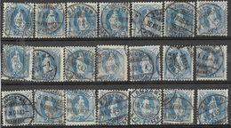 _3L-336:  Restje Van  21 Zegels:  25 Ct Blauw : Diverse.... Verder Uit Te Zoeken.. - Gebruikt