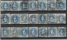 _3L-335:  Restje Van  21 Zegels:  25 Ct Blauw : Diverse.... Verder Uit Te Zoeken.. - Gebruikt