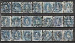 _3L-334:  Restje Van  21 Zegels:  25 Ct Blauw : Diverse.... Verder Uit Te Zoeken.. - Gebruikt