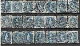 _3L-333:  Restje Van  21 Zegels:  25 Ct Blauw : Diverse.... Verder Uit Te Zoeken.. - Gebruikt