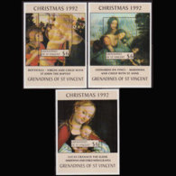 ST.VINCENT GRENADINE 1992 - Scott# 941-3 S/S Christmas MNH - St.Vincent & Grenadines