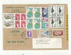 2 Lr  AFFRANCHIES Avec 19  Et 10 Timbres Divers..... Belles Compositions Philatéliques....à Voir. - 1961-....