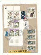 2 Lr  AFFRANCHIES Avec 14  Et 12 Timbres Divers..... Belles Compositions Philatéliques....à Voir. - 1961-....