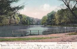 New York Poughkeepsie The Lake At Vassar College 1909