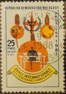 MADAGASCAR 1981 International Year Of The Disabled. LIGERO ADELGAZAMIENTO. USADO - USED. - Madagascar (1960-...)
