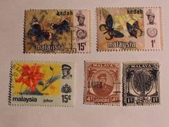 MALAISIE  ( Kedah / Johore) 1949-79  Lot # 31 - Malaysia (1964-...)