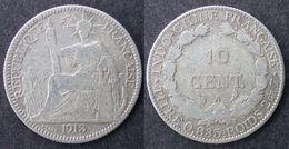 INDOCHINE  10 Cent 1913  INDOCINA  INDO-CHINA  PORT OFFERT - Laos