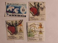 MALAISIE  ( Sabah / Selangor) 1965-86  Lot # 33 - Malaysia (1964-...)