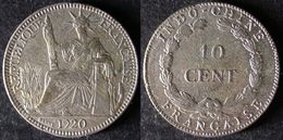 INDOCHINE 10 Cent 1920 Revers Différent Rare INDOCINA INDOCHINA PORT OFFERT - Laos