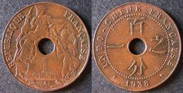 INDOCHINE  1 Cent 1938  INDOCINA  INDO-CHINA    PORT OFFERT - Monnaies