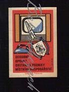 55-172 CZECHOSLOVAKIA 1961 TEPS MH Better Services To The Population - Professional Repairs - TV, Pliers, Iron - Scatole Di Fiammiferi - Etichette