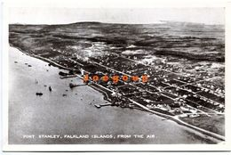 Postcard Port Stanley Falkland Islands From The Air Islas Malvinas Argentina - Isole Falkland