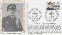Enveloppe  FDC   1er Jour    SAINT  PIERRE  Et  MIQUELON    Commandant  BIROT   1993 - FDC