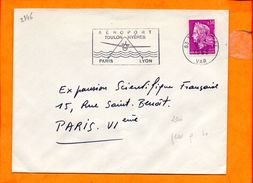 VAR, Toulon, Flamme SCOTEM N° 2346, Aéroport Toulon-Hyeres - Oblitérations Mécaniques (flammes)