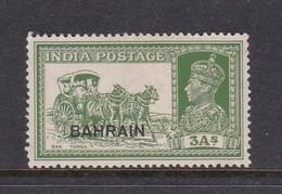 Bahrain Scott 26 ,1938-41, King George VI ,3 A Yellow Green, Mint Light Hinged - Bahrain (1965-...)