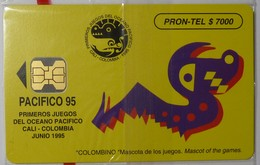 COLUMBIA - Chip - $7000 - Pacifico '95 - Mascot - 06/95 - Mint Blister - Colombia