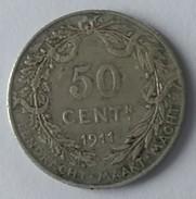 50 CENTIMES - 1911 - ALBERT KONING DER BELGEN - BELGIQUE - - 1909-1934: Albert I