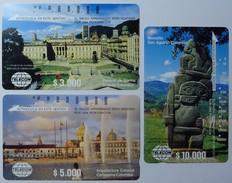 COLUMBIA - 3 Tamura - $3000, 5000 & 10,000 - Palacio, Arquitectura & Monolito - Used - Colombia