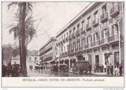 SEVILLA - GRAN HOTEL DE ORIENTE Fachada Principal SELLO 1930 ESPANA (2 Scans) - Granada