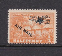New Guinea SG 137 1931 Native Village One Shilling Air Mail Mint Hinged - Papua New Guinea