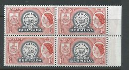 Bermuda 1953 QEII Definitives 1d Perot Stamp Block Of 4 MNH - Bermuda