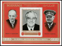 Manama - 3079a/ Bloc N° 83 A Roosevelt - Eisenhower Churchill N) ** MNH - Manama