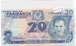 Billets -B2958-Tanzanie - 20  Shilingi Ishirini (type, Nature, Valeur, état... Voir  Double Scans) - Tanzanie
