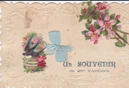 ¤¤  -  VANNES  -  Carte Fantaisie Militaire   -  Souvenir Du 28e D'Artillerie  -  Découpis , Ruban  -  ¤¤ - Vannes