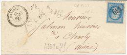 20c Empire Dentelé Ob. 4339 Gros Chiffres Sur Lettre De Wassigny - Marcophilie (Lettres)