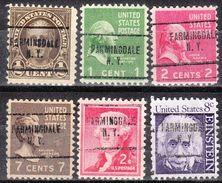 USA Precancel Vorausentwertungen Preo, Locals New York, Farmingdale 704, 6 Diff. - Vereinigte Staaten