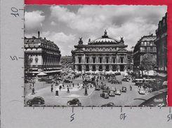 CARTOLINA VG FRANCIA - PARIS - Place De L'Opera - 10 X 15 - ANN. 1954 - Piazze