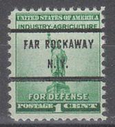 USA Precancel Vorausentwertungen Preo, Bureau New York, Far Rockaway 899-71 - United States