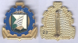 Insigne Du 519e Groupe Autonome De Transit Maritime ( Translucide ) - Armée De Terre
