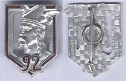 Insigne Du 92e Régiment D'Infanterie - Army