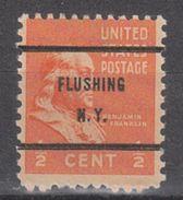 USA Precancel Vorausentwertungen Preo, Bureau New York, Flushing 803-61 - United States