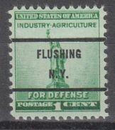 USA Precancel Vorausentwertungen Preo, Bureau New York, Flushing 899-71 - United States