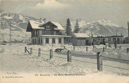 GESSENAY-  -La Gare, Ligne Montreux-Oberland. - Gares - Avec Trains
