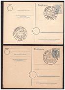 2 Entiers Postaux Oblitération Echec ( Tour Du 10.8.47. Et Cavalier Du 29.10.47. ) - Deutschland