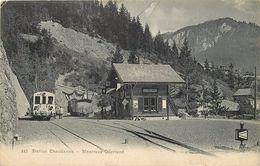 STATION CHAUDANNE ,Montreux-Oberland. - Gares - Avec Trains
