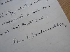 Armand DE LA ROCHEFOUCAULD, DUC De DOUDEAUVILLE (1870-1963) Maire BONNETABLE (Sarthe) Autographe - Autografi
