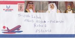 GOOD UAE Postal Cover To ESTONIA 2012 - Good Stamped: Bird ; Royality - Emirats Arabes Unis