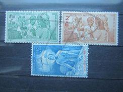 VEND BEAUX TIMBRES DE POSTE AERIENNE DE GUADELOUPE N° 1 - 3 , X !!! - Guadeloupe (1884-1947)