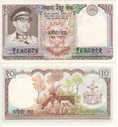 NEPAL   10 Rupees     P24      ND  1974     UNC - Nepal