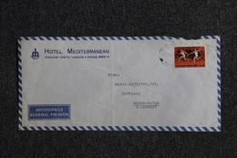 Lettre De CRETE ( IRAKLION - Hotel Méditerranéen) Vers ALLEMAGNE - Crete