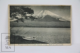 Old 1913 Japan Postcard - View Of The Mount Fuji From Lake Yamanaka (black And White) - Tokyo
