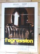 Affiche Cinéma L'Agression De Gérard Pirès - JL Trintignant - 120 X 160 - Affiches