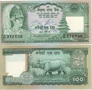 NEPAL   100 Rupees     P34f     ND  1985    Sign. 13     UNC - Nepal